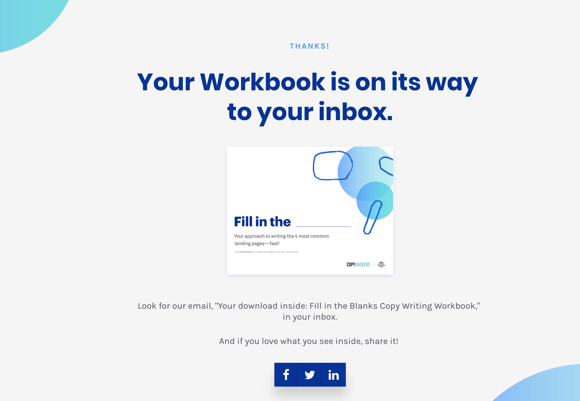 Copyhacker's Thank You Page